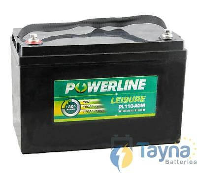 PL110-AGM Powerline AGM Leisure and Marine Batterie 100Ah