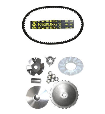 Tao Tao New Speed 50 CY50 T3 Magic Front Clutch Variator and Powerlink Belt