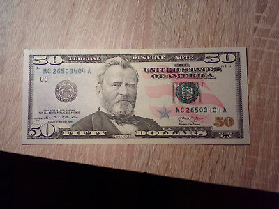 banknote 50 us dollar