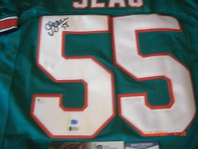 6f0486fe14 Jr Junior Seau Miami Dolphins,San Diego Chargers Gai & Beckett/Coa Signed  Jersey