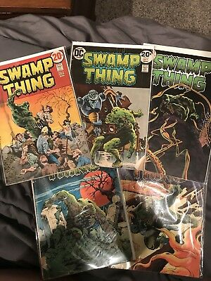 Swamp Thing Lot Of 5 Books. Poor-good Contion