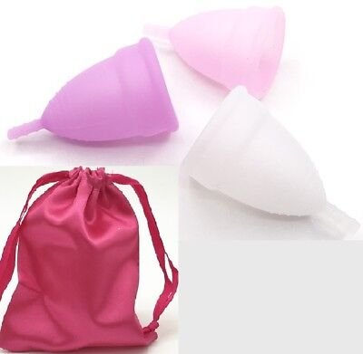 Eco-Friendly Reusable Silicon Female Menstrual Cup Feminine Hygiene, UK seller