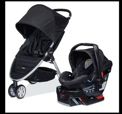 Baby Britax 2015 B-Agile 3 Stroller & B-Safe 35 Car Seat Travel  Black