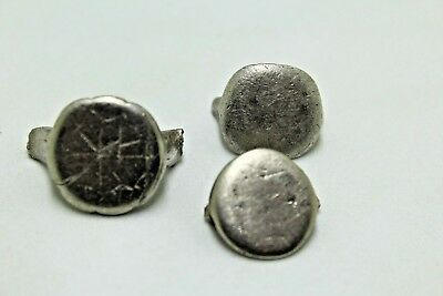 LOT OF PIECES FROM ANCIENT ROMAN SILVER RINGS.   1v681