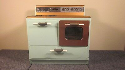 Vintage Metal Child's Toy Play Oven Stove by NASSAU