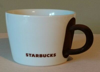 Starbucks 2010 by KAHLA Made in Germany White w/ Brown Velvet Handle 14 oz. Mug