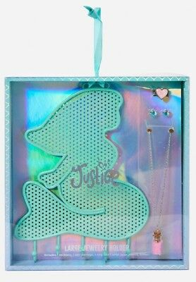 NWT Justice Mermaid Hanging Jewelry Holder w/ Earrings, Ring & Necklace!