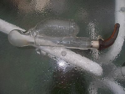 Rare Vintage Glass Pipe Candy Container