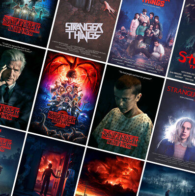 STRANGER THINGS Series Posters Prints - A4 A3 A2 - Best TV Show Wall Art