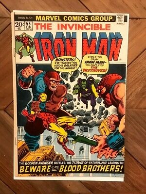 Iron Man 55 First Thanos Nice Copy No Reserve