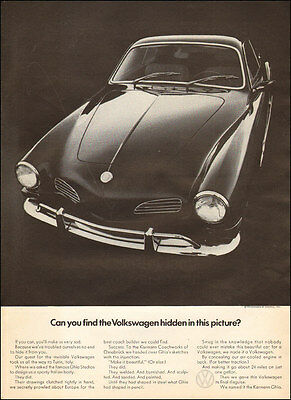1973 classic sports car KARMANN GHIA from Volkswagen Lovely Ad ! 032617