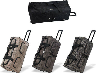 """30""""/36""""/40"""" Polyester Rolling Wheeled Duffel Bag Travel Suitcase"""