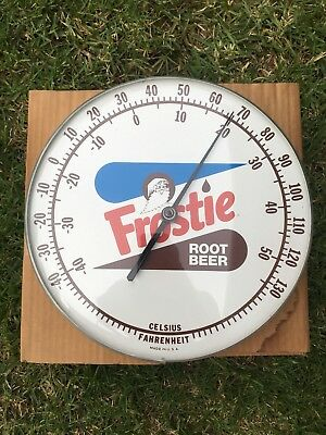Round Frostie Root Beer Thermometer Sign/W Original Box