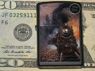 1 NEW Windproof ZIPPO USA Lighter Blaylock Steam Train Coal Engine Track Freight