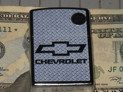 Zippo Chevy Bow Tie Diamond plate Chevrolet New USA Windproof Lighter Truck Car