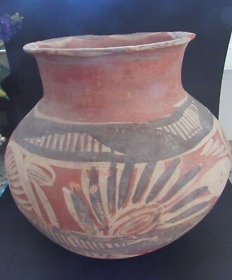 Ancient NAVAJO Pueblo Hand Painted TERRA COTTA POTTERY Vessel VASE Pre columbian