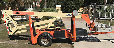 2006 JLG T350 Towable 35' Articulating Electric Boom Man Lift 86hrs 1 owner