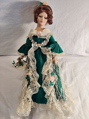 Royalton Collection Porcelain Doll 2000 17 Inches Tall With Stand