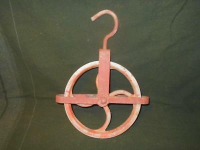 Antique Cast Iron Well Pulley Barn Salvage Industrial Vintage Rustic Lighting
