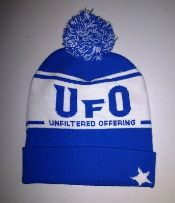 UFO Beer Harpoon Brewery Winter Hat Knit Watch Cap Ski Snow Unfiltered Offering