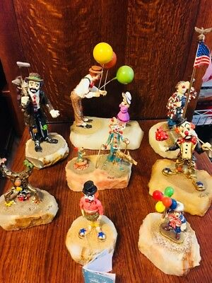 Ron Lee Clown Collection 8 Pcs.All Signed
