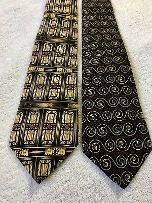 Pair Of Gorgeous and Super Trendy Men's Neck Ties By THE METR MUSEUM OF ART