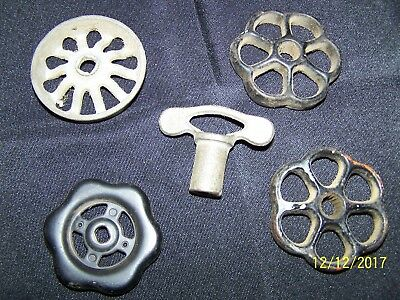5-Various Vintage Outside Faucet Water Shut-off Handles