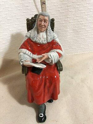 Vintage Royal Doulton The Judge HN2443 Bone China UK Figurine Judicial New 1974