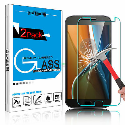 2X LOT Real 9H Tempered Glass Screen Protector For Motorola Moto G4 G5 G5S Plus