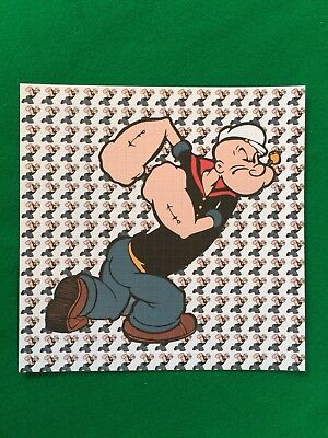 Popeye The Sailor Man Blotter Art Acid Free 900 Squares Perforated High Quality