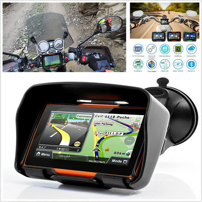 "Motorcycle GPS Navigator Bluetooth 4.3"" Screen 8GB 256MB+Free North America Maps"