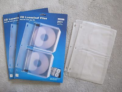 2 Packages of Ring King 59070 Ten Pack 3-Ring Binder CD Looseleaf Files w/Extra