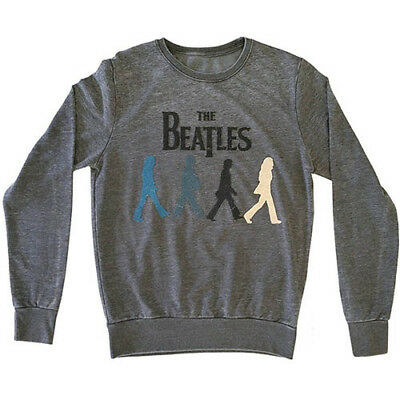 NEW The Beatles Men's Sweatshirt: Walking with Caviar Bead Application (Small)
