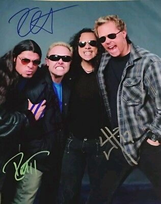 Metallica James Hetfield Lars Band Autographed Signed photo printed REPRINT RP