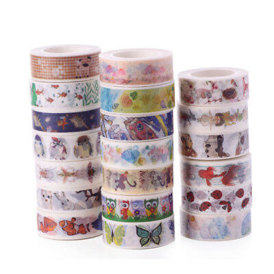 10M Cartoon Animal Washi Masking Tape Scrapbook Paper Adhesive DIY Sticker Decor