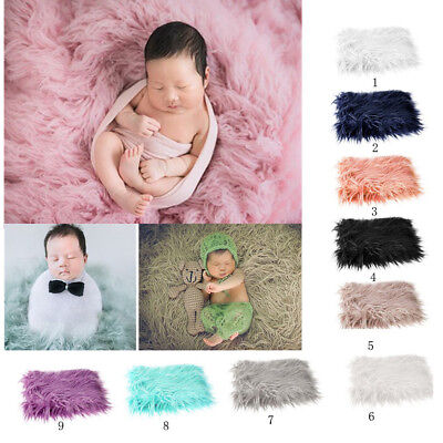 2018 DIY Soft Baby Photo Props Newborn Photography Fur Quilt Photographic