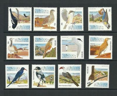 2012 Namibia Birds Definitives Unmounted Mint Set Sg 1180/1196
