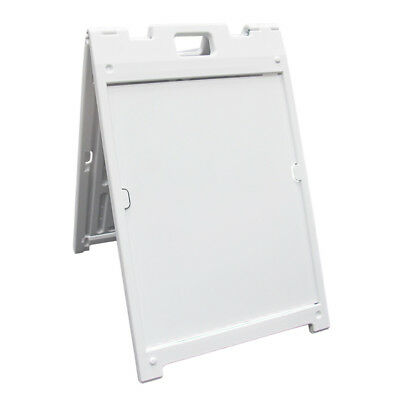 """The """"Signicade MDX"""" Portable Sign Stand - White"""