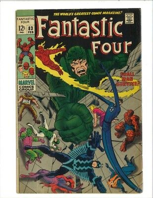 Fantastic Four #83 Inhumans, Kirby, Stan Lee, Maximus The Mad Cover, 1969