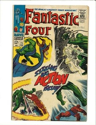 FANTASTIC FOUR #71 Marvel Comic Book Issue Silver Age Jack Kirby 1968