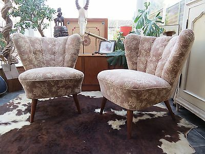 Mid Century Vintage East German Bartholomew Cocktail Chairs C1955 Hf5-18