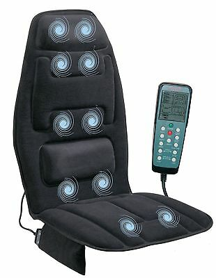 Back Massage Chair Heated Seat Cushion Lumbar Car Seat Pad Heater  Massager Neck