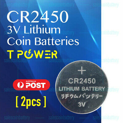 2x PKCELL CR2450 3V Cell Coin Lithium Button Battery Batteries Stock in Melbour