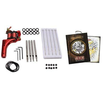 Tattoo Reference Flash Book Machine Nipple Needle Nozzle Grommets Bands Set