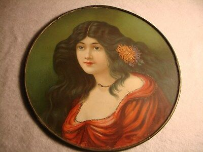 antique victorian lady framed picture leaded frame
