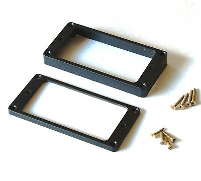 Aged LP Black Humbucker Surrounds Mounting Rings Aged Screws for Les Paul ®