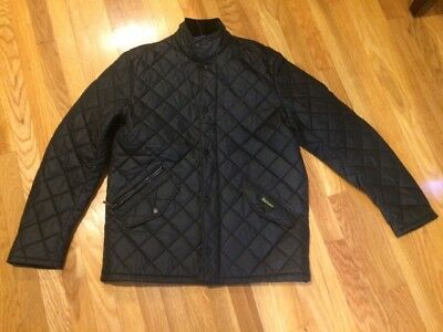 Barbour Chelsea Sport Quilt Jacket Black Large New without Tags