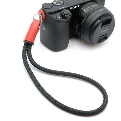 Silky Cord / Rope & Leather Camera Wrist Strap - Leica - Handmade by Cordweaver