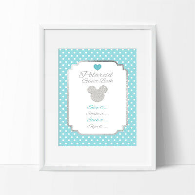 Polaroid Guest Book Sign, Birthday Sign,1st Birthday, Mickey Mouse
