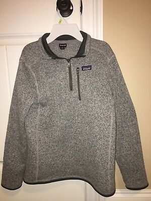 Patagonia Youth Unisex Better Sweater 1/4 Zip Pullover size XL Preowned